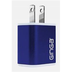 CARGADOR GINGA PARED CUBO AZUL 2 USB 2A