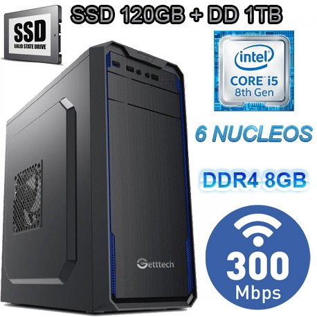 CPU INTEL CORE I5-8400 6 NÚCLEOS 1TB SSD MEMORIA DDR4 8GB WIFI