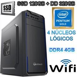 CPU INTEL GOLD G5400 4 NÚCLEOS SSD 320GB MEMORIA DDR4 4GB WIFI