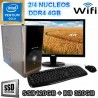 PC INTEL GOLD G5400 MONITOR LED SSD 320GB MEMORIA DDR4 4GB WIFI