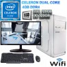★PC INTEL CELERON J4005 2 NÚCLEOS MONITOR HD LED 120GB SSD 4GB WIFI