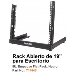 RACK INTELLINET 2 POSTES 8U P/ESCRITORIO