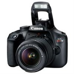 CAMARA CANON EOS REBEL T100 18 MP CMOS PANTALLA 2.7, FULL HD 30P EF-S 18-55MM F/3.5-5.6 III