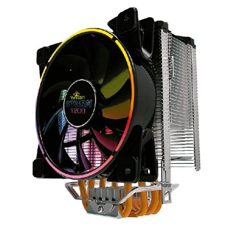 DISIPADOR RGB YEYIAN PARA CPU 5 TUBERIAS DE COBRE INT/AMD STORM 1200