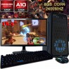 PC GAMER 2018 AMD A10-9700 VÍDEO RADEON PANTALLA LED HD 1TB MEMORIA 8GB DDR4