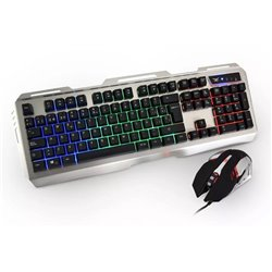 KIT NACEB TECLADO+MOUSE GAMER CYBORG 3200 DPI