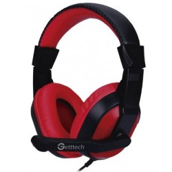 DIADEMA GETTTECH C MIC PARA PC ROJO-NEGRO 3.5mm STREAM GH-2100