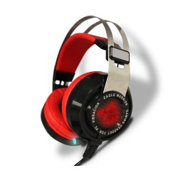 AUDIFONOS GAMING EAGLE WARRIOR MIC RAVEN 7.1 NEG/ROJO USB ACFHS88RAVEN
