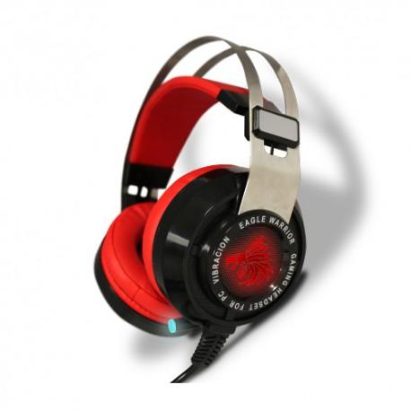 AUDIFONOS GAMING EAGLE WARRIOR MIC RAVEN 7.1 NEG/ROJO USB ACFHS88RAVEN
