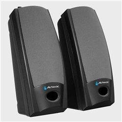 ACTECK AX-2500 BOCINAS MULTIMEDIA 2.0 conector 3.5mm con alimentacion electrica