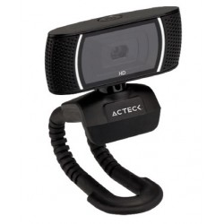 WEBCAM ACTECK CON MICORFONO W110 INTERFAS USB RESOLUCION HD COMPATIBLE WINDOWS Y MAC OS