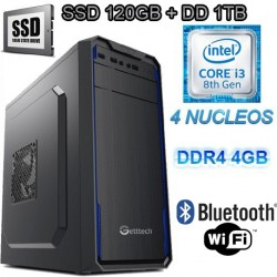 CPU INTEL CORE I3-8100 4 NÚCLEOS 3.6GHZ SSD 1TB MEMORIA DDR4 4GB WIFI