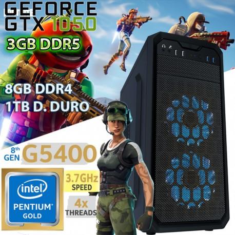 CPU GAMER INTEL GOLD G4560 NVIDIA GTX-1050 3GB DDR5 8GB DDR4