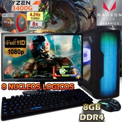 PC GAMER RYZEN 5 3400G RADEON VEGA PANTALLA