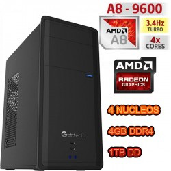 CPU GAMER AMD ATHLON 5350 4 NUCLEOS VIDEO RADEON HDMI 1TB MEMORIA 8GB