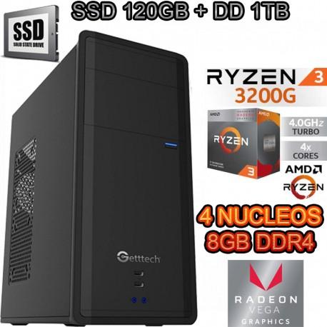 CPU AMD RYZEN 3 3200G 4 NÚCLEOS VIDEO VEGA SSD 1TB DDR4 8GB WIFI