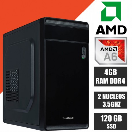 PC ECONOMICA CPU AMD A6-7480 2 NÚCLEOS TURBO 3.8GHZ RAM 4GB SSD