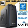 CPU INTEL GOLD G5400 4 NÚCLEOS SSD 500GB MEMORIA DDR4 4GB WIFI
