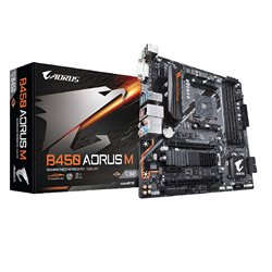 GIB MB B450 AORUS M AM4 AMD B450 Max64GB DDR4 MicroATX