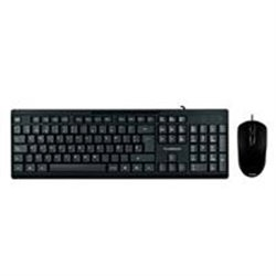KIT TECLADO ESTANDAR + MOUSE ALAMBRICO USB/TRUEBASIX/ACTECK/1000 DPI/COLOR NEGRO / TB-924849