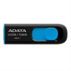 MEMORIA ADATA 128GB USB 3.0 UV128 RETRACTIL NEGRO-AZUL