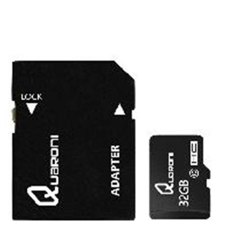 MEMORIA QUARONI MICRO SD/HC 32GB CLASE 10 C/ADAPTADOR