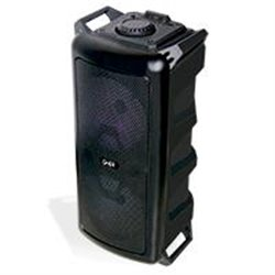 BAFLE AMPLIFICADO GHIA DOBLE BOCINA 6.5 PULG RECARGABLE /BT/USB/MICROSD/MIC/CONT.R./ LUZ LED