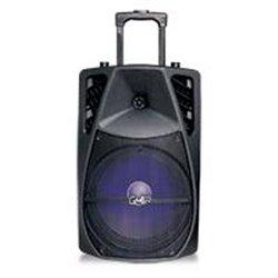 BAFLE AMPLIFICADO RECARGABLE BOCINA DE 12 PULG 9700W PMPO PORTATIL CON RUEDAS Y MANIJA RETRACTIL BT/ USB/ MICRO SD/AUX/ LUCES LE