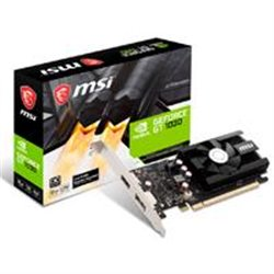 T. DE VIDEO MSI NVIDIA GT1030/PCIE X16 3.0/2GB DDR4/HDMI/DP/BAJO PERFIL/GAMA BASICA