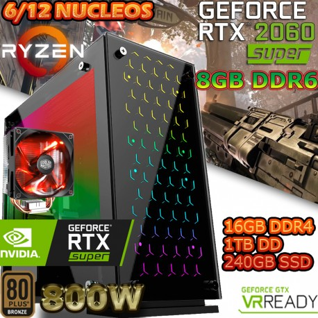 ★PC GAMER RYZEN 5-2600 NVIDIA RTX-2060 6GB DDR6 16GB DDR4 SSD 1TB