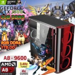 CPU GAMER AMD A8-7600 4 NUCLEOS NVIDIA GTX 3GB DDR5 1TB MEMORIA 8GB