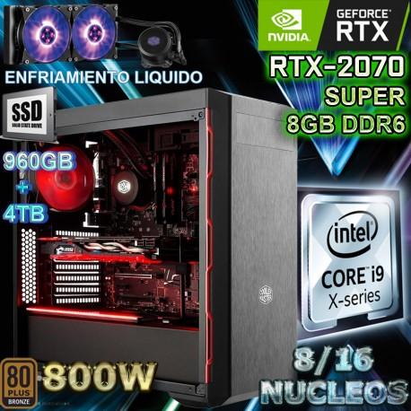 PC CORE I9-9900K 16 NÚCLEOS NVIDIA RTX-2070 8GB DDR6 32GB DDR4