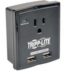 SUPRESOR TRIPP-LITE SK10USB CON 1 CONTACTO, CONEXION DIRECTA, 1080JOULES, ENTRADA USB DE 2.4 AMPERES