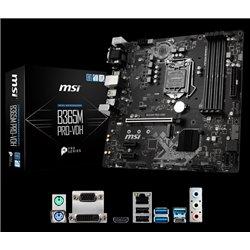 MB MSI B365M PRO-VDH SOCKET 1151 MICRO ATX 4 X DDR4 BUS 2666 M.2 VGA HDMI DVI-D USB TIPO C SOPORTA 8VA 9NA GENERACION