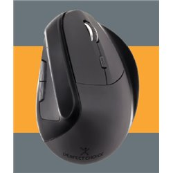 MOUSE PERFECT CHOICE VERTICAL ERGONOMICO INALAMBRICO NEGRO USB