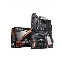 GIGABYTE MB B450 AORUS PRO WIFI AMD B450 SOCKET AM4 RYZEN 1era y 2da GEN y RYZEN con GRAFICOS RADEON VEGA 4xDDR4 hasta 64GB DVI/