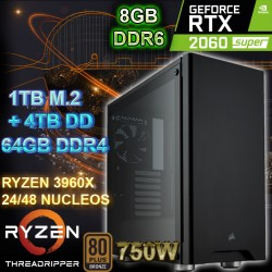 PC THREADRIPPER 48 NÚCLEOS NVIDIA RTX-2060 8GB DDR6 64GB