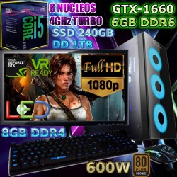 PC GAMER CORE I5-8400 6 NÚCLEOS NVIDIA GTX-1660 SUPER 6GB DDR6 PANTALLA