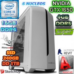 PC DISEÑO CORE I5-9400 NVIDIA GTX-1650 SUPER 4GB DDR6 16GB