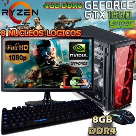 ★PC GAMER RYZEN 5 NVIDIA GTX-1650 4GB DDR6 PANTALLA