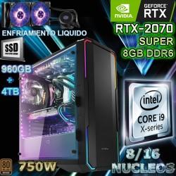 PC CORE I9-9900K 16 NÚCLEOS NVIDIA RTX-2070 SUPER 8GB DDR6 32GB