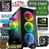 ★PC CORE I5-9600K 6 NÚCLEOS NVIDIA RTX-2060 6GB DDR6 16GB DDR4 SSD 2TB