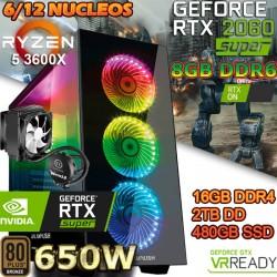 PC GAMER RYZEN 5 3600X NVIDIA RTX 2060 SUPER