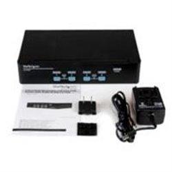 SWITCH CONMUTADOR KVM DE 4 PUERTOS VGA CON AUDIO Y HUB USB 2.0 - MONTAJE EN RACK - STARTECH.COM MOD. SV431USBAE