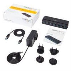 CONCENTRADOR USB 3.0 DE 7 PUERTOS - HUB DE ESCRITORIO CON ADAPTADOR DE ALIMENTACIÓN - COLOR NEGRO - STARTECH.COM MOD. ST7300USB