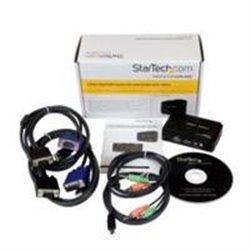 JUEGO CONMUTADOR KVM 2 PUERTOS TODO INCLUIDO - USB - AUDIO Y VIDEO VGA - 2X USB A HEMBRA - 2X MINI USB B HEMBRA - HD15 MACHO - S