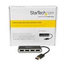 CONCENTRADOR USB 2.0 DE 4 PUERTOS CON CABLE INTEGRADO - HUB PORTáTIL USB 2.0 DE 4 PUERTOS ALIMENTADO POR EL BUS - STARTECH.COM