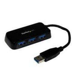 ADAPTADOR CONCENTRADOR HUB USB 3.0 SUPER SPEED 4 PUERTOS SALIDAS PORTáTIL PARA LAPTOP COMPUTADORA - NEGRO - STARTECH.COM MOD.