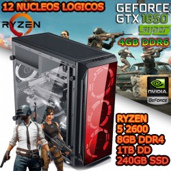 CPU GAMER RYZEN 5 NVIDIA GTX-1650 SUPER 4GB DDR6