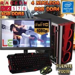 PC GAMER INTEL GOLD RX-570 4GB DDR5 8GB DDR4 MONITOR